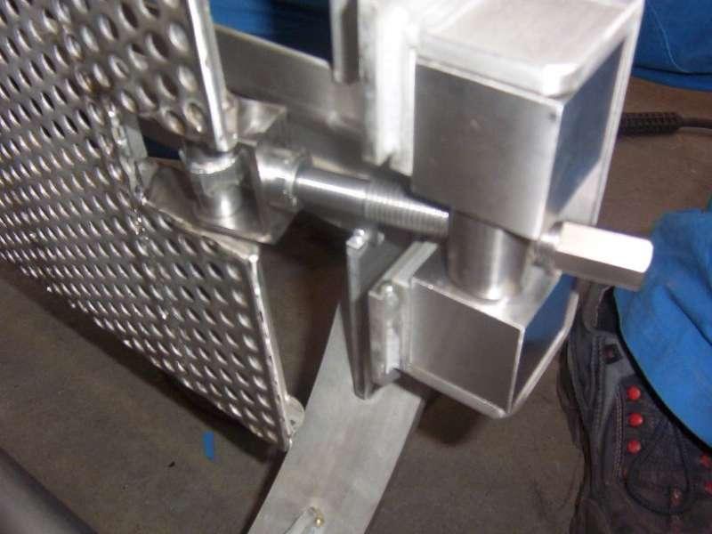 Particolare in acciaio inox AISI 304