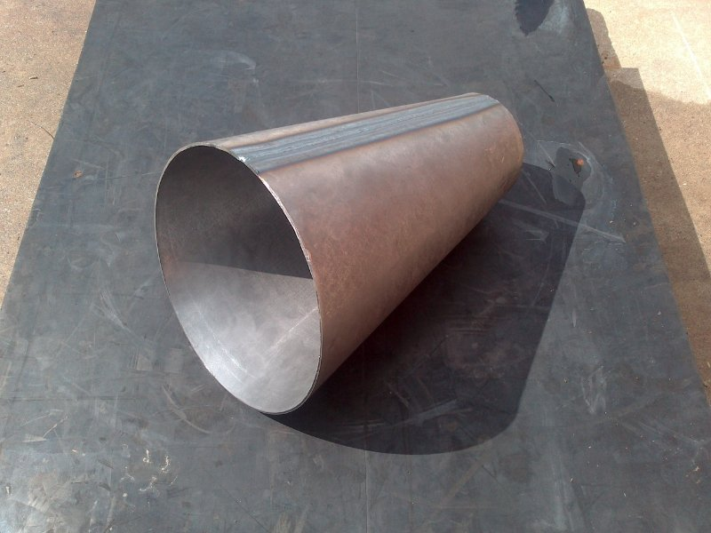 riduzione conica eccentrica in ferro
