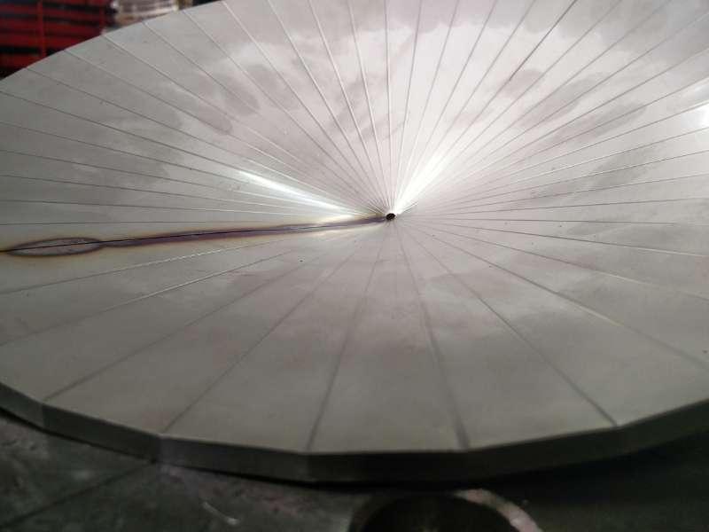 riduzione conica concentrica in acciaio inox AISI 304 ricavata da pressa piegatrice